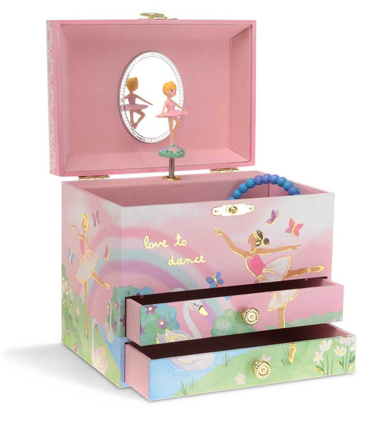 Sami Ballerina Musical Jewelry Chest w/ Drawers
