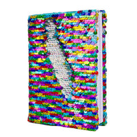 Magic Sequin Journal - Rainbow/Silver