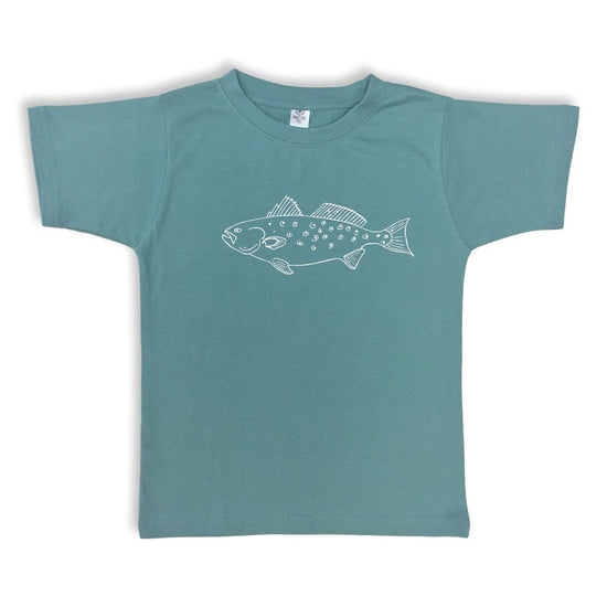 Honey Bee Tees Steel Blue Speckled Trout T-Shirt