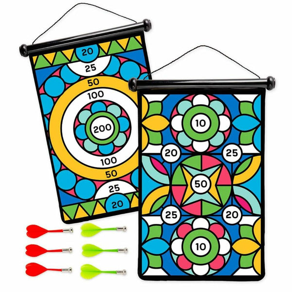 Double-Sided Magnetic Dart Board Set