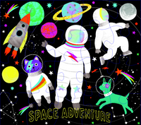 Space Adventure 20PC Astronaut SHAPED JIGSAW WITH SHAPED BOX