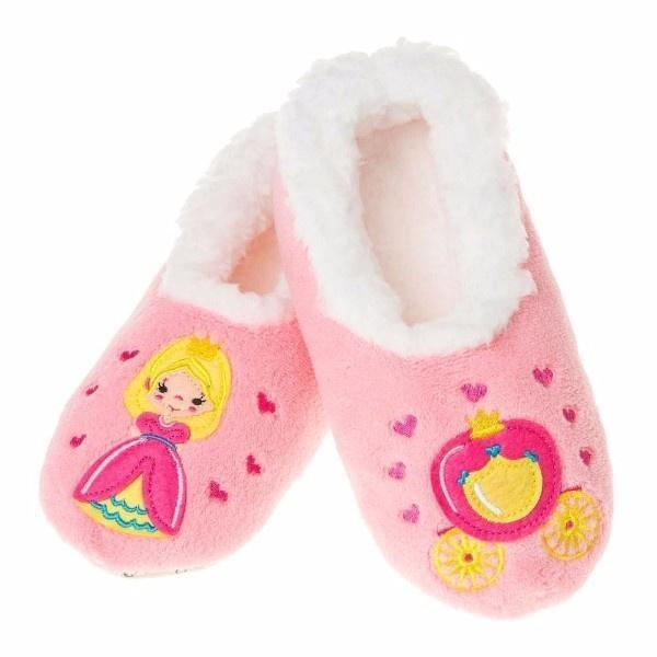 Snoozies Pairables Slippers - Princess/ Carriage