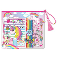 Unicorn Coloring Journal Gift Set
