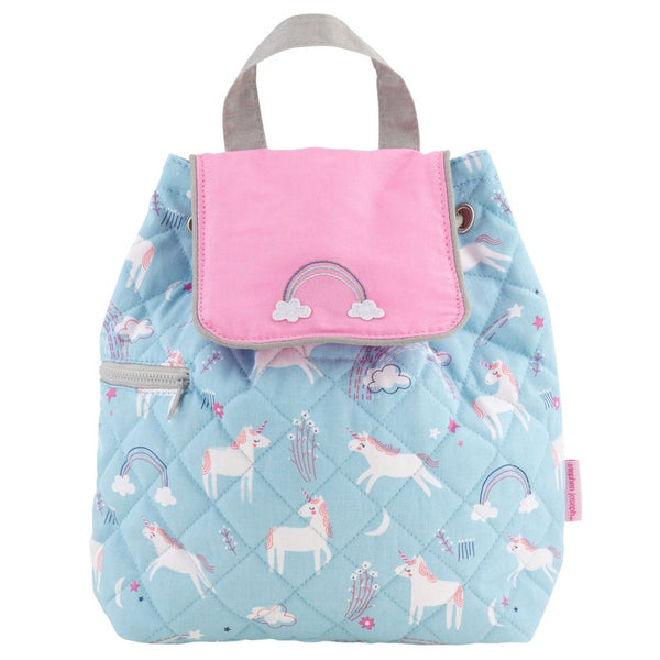 Stephen Joseph Quilted Backpack - Rainbow Unicorn