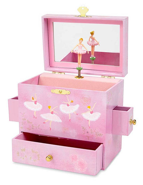 Vanessa Ballerina Musical Jewelry Chest w/ Drawers
