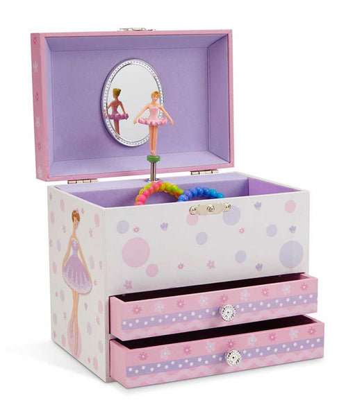 Patricia Ballerina Musical Jewelry Chest w/ Drawers