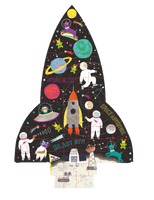 SPACE 80PC ROCKET SHAPED JIGSAW WITH SHAPED BOX
