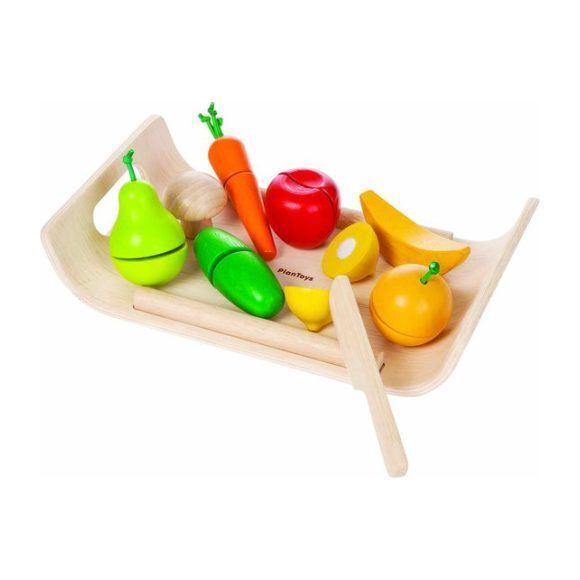 Assorted Cuttable Wooden Fruit and Vegetable Tray