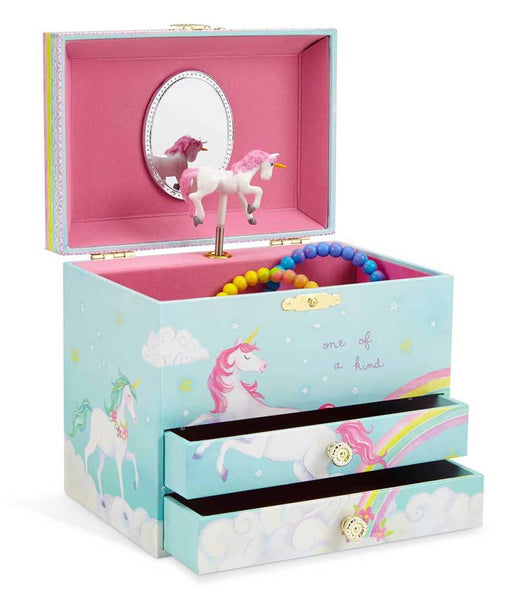 Rainbow Unicorn Musical Jewelry Chest w/ Drawers