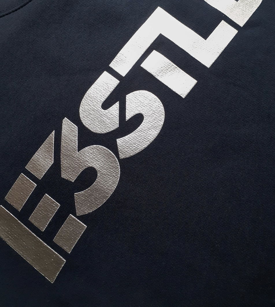 LTD EDITION - Now IN stock - Navy Sweat, large logo in Silver