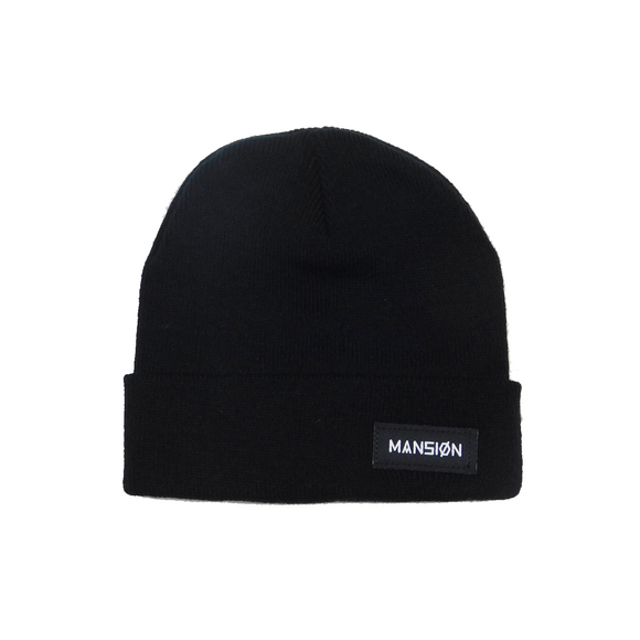BAR LOGO BEANIE BLACK