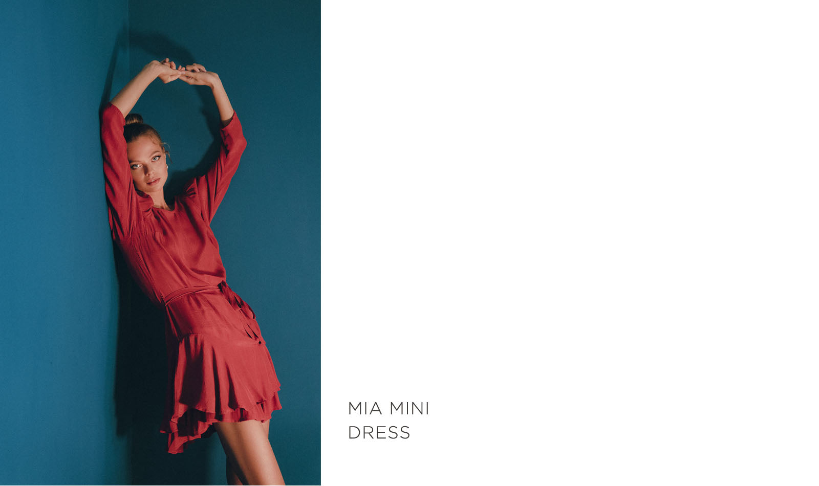 mia mini dress in guava color