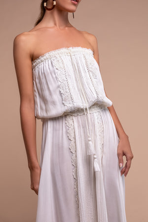 jasmine midi dress white detail