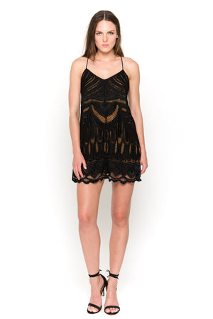 black feather midi dress front