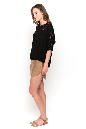 black lisa blouse side