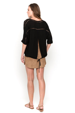 black lisa blouse back