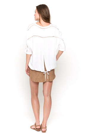 white lisa blouse back