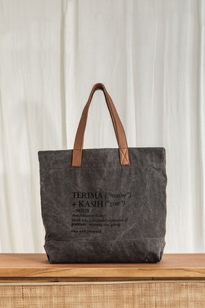 terima kasih bag leather charcoal