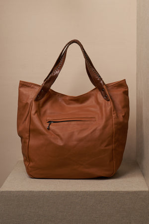 annie bag leather cognac zipper
