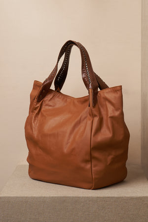 annie bag leather cognac