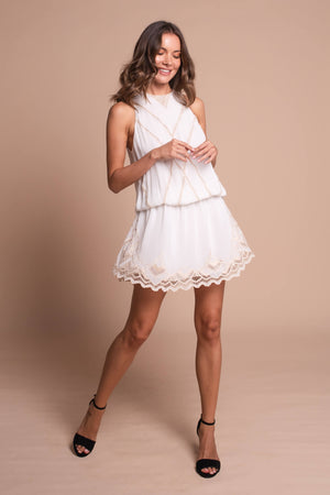 clara mini dress white front