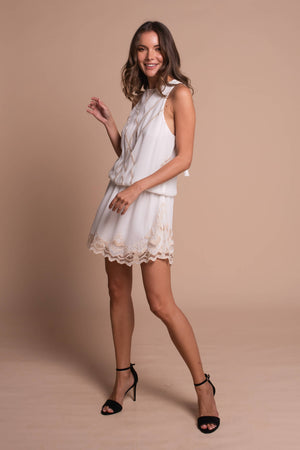 clara mini dress white side