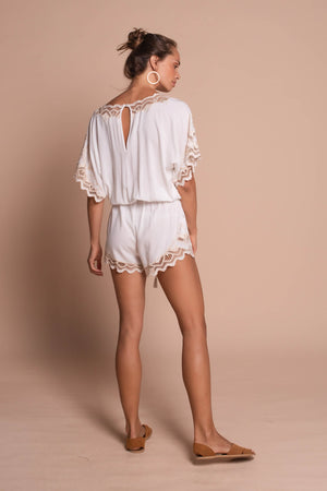 white clara playsuit white back