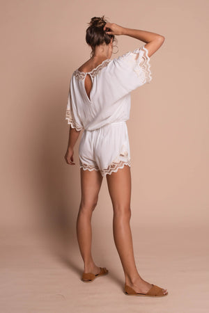 white clara playsuit white side