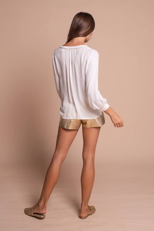 white heather shirt back