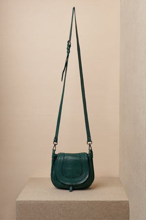 jade bag green leather long strap