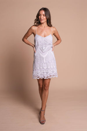 jennifer mini dress white front