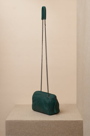 jessica green leather bag side sling