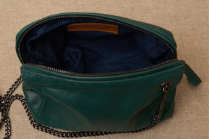 jessica green leather bag inside