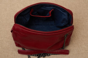 jessica bag red and jeans lining