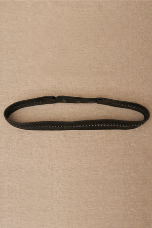 lauren black leather belt