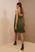lauren mini dress green army