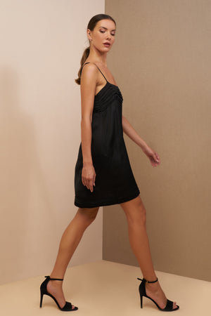 lauren mini dress black