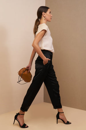 lauren pants black with pocket