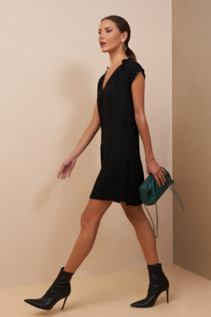 luana mini dress black