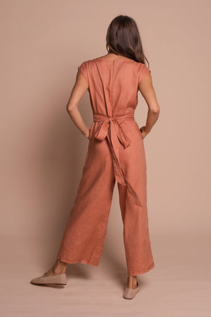 taylor playsuit burnt orange back