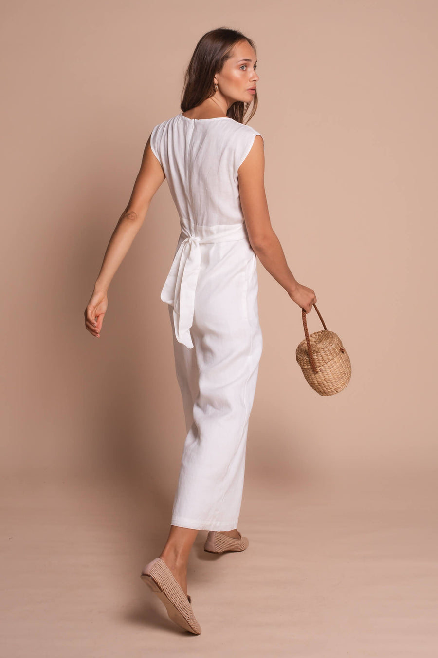 taylor playsuit white front