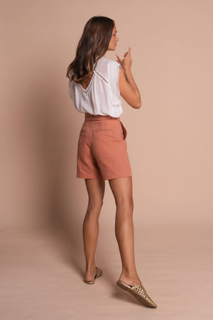 burnt orange taylor shorts back