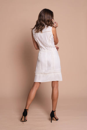 white victorian dress back