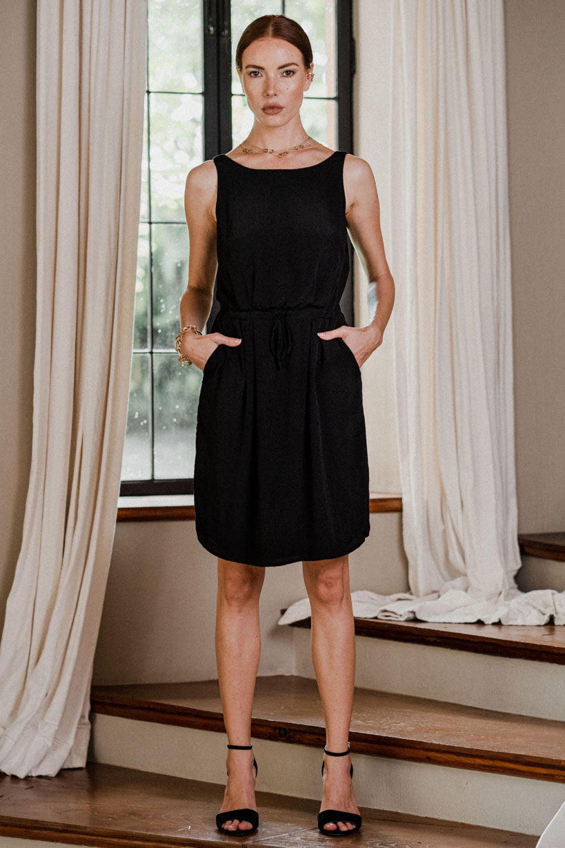 uma and leopold grace mini dress black