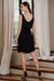 uma and leopold grace mini dress black back