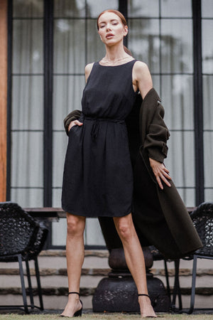 uma and leopold grace mini dress black style