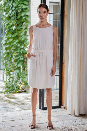 uma and leopold grace mini dress white