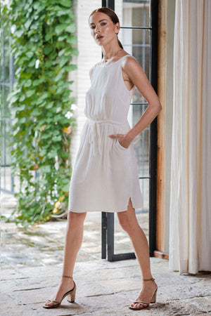 uma and leopold grace mini dress white side