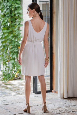 uma and leopold grace mini dress white back