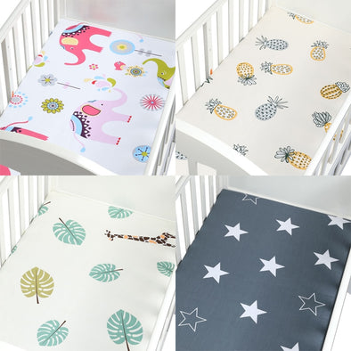 "Cute Printed Crib Sheet 28""x52"""